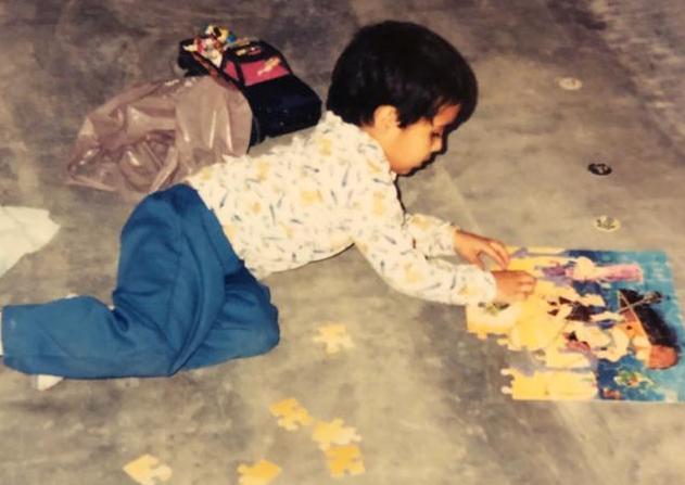 Valentin with puzzle